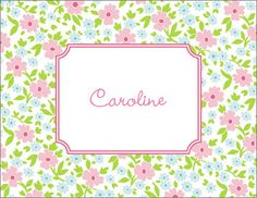 Emma Floral Foldover Note Cards