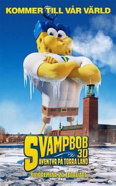 Sponge Out of Water Swedish Poster.