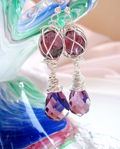 Check out this item in my Etsy shop https://www.etsy.com/ca/listing/247689187/sterling-silver-purple-vintage-crystal