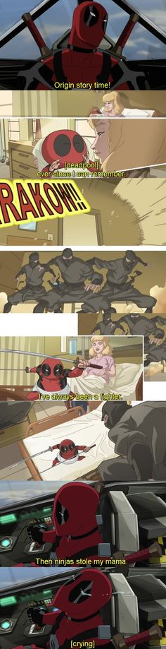 Deadpool has the most relatable of origin stories. [Ultimate Spiderman S02E16 - Ultimate Deadpool]