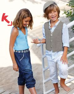 Katia Bulky Cotton Kids top. #BlueJeans Spring · Summer #Colortrend 2015 #KatiaYarns