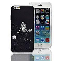 iPhone 5 5S Case,iPhone SE Cases, Sunroyal Slim-Fit Ultra-Thin TPU Silicone Gel Anti-Scratch Shock Proof Dust Proof Anti-Finger Print Clear Colourful Pattern Design Durable Scratch Resistant Rubber Protective Skin Shell Case Cover for iPhone 5 5S SE - Astronaut & Space