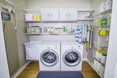 Keep your laundry room and cleaning supplies organized all in one place with #freedomRail #OrganizedLiving