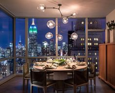 Tom Brady and Gisele Bundchen's dining room in the sky, midtown Manhattan