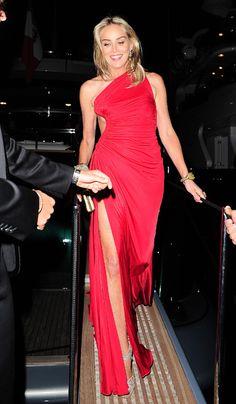 Sharon Stone fait grimper la température à Cannes