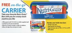 FREE Kelloggs Nutri-Grain On-The-Go Carrier Case