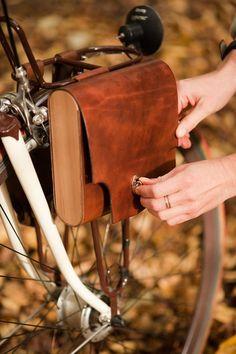 Leather Bicycle Pocket Pannier - Walnut Studio