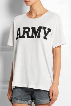 NLST|Army cotton-blend T-shirt|NET-A-PORTER.COM