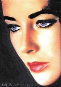 Elizabeth Taylor Eyes - idrawandpaint