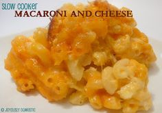 Joyously Domestic: Slow Cooker Macaroni and Cheese