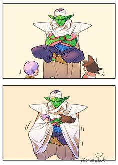 Piccolo, Trunks, and Goten So much cute! Dragon Ball Z, Goten E Trunks, Vegeta And Trunks, Blade Runner, Dbz Memes, Vegeta And Bulma, Dragon Images, Card Captor, Cute Dragons