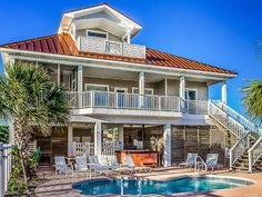 VRBO.com #799865 - 'Beachnique' 4 Bedroom/Private Pool/Hot Tub/Steps to the Beach! St. George Island