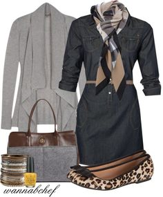 """""""Chambray Dress"""" by wannabchef on Polyvore"""