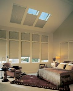 Hunter Douglas cellular shades and honeycomb shades conserve energy reducing your energy bills year round. Insulate with cellular shades & honeycomb shades. Living Room Blinds, Bedroom Blinds, Diy Blinds, House Blinds, Bedroom Windows, Shades Blinds, Curtains With Blinds, Window Blinds, Master Bedroom