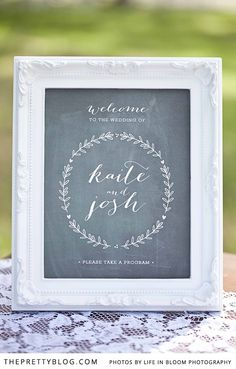 Black board with white frame | Signage idea | Photographer: Life in Bloom, Styling: Sunshine & Confetti