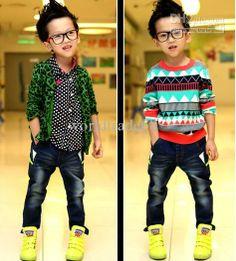 2013 Hot Sale Korea boys jeans fashion washed denim trousers children cool pants autumn clothing kids trousers