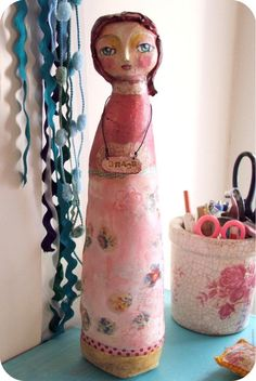 Grace  art doll/ scupture mixed media art ooak by SusanaTavares, $150.00