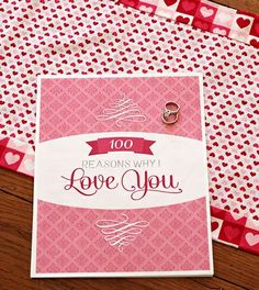 Un regalo original y que le encantará sobre todo si a tu pareja le gusta que le digas cuánto le quieres.http://sorpresasparatupareja.com/2014/04/21/100-razones-por-las-que-te-quiero/