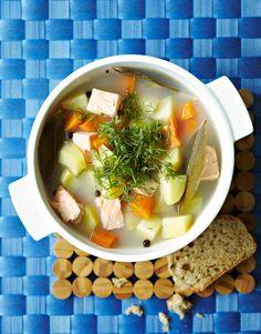 Kalakeitto   Meillä kotona Ramen, Eggs, Breakfast, Ethnic Recipes, Food, Morning Coffee, Essen, Egg, Meals