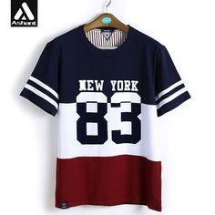 Men High Quality Fashion Hip Hop Tops Plus Size 5XL Male Summer Style Stripes 100% Cotton T-shirt