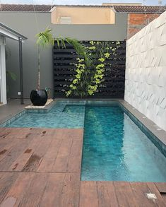 Stylish 37 Inspiring Small Backyard Pool Design Ideas For Your Relaxing Place Small Swimming Pools, Small Pools, Swimming Pools Backyard, Swimming Pool Designs, Small Pool Ideas, Backyard Pool Landscaping, Backyard Pool Designs, Backyard Ideas, Small Backyard Design