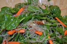 Korean Stir-Fried Kelp Noodles with Vegetables  Another amazing recipe from Almost Raw Vegan.    http://seequence.ca/?p=2770