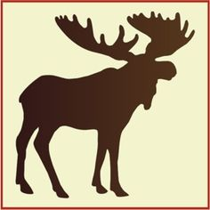 A perfect moose stencil for that lodge look from The Artful Stencil.