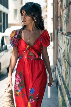 brigitte krvn 1 Tie Dress, Wrap Dress, Brigitte Bardot, Spring Summer, Model, Red, Cotton, Language, English