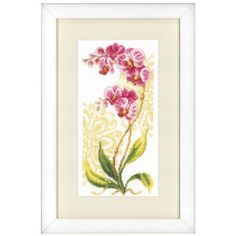 Pink Orchid - Cross Stitch, Needlepoint, Stitchery, and Embroidery Kits, Projects, and Needlecraft Tools | Stitchery