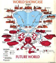 Nostalgia! Theme park brochures. Epcot - 1991