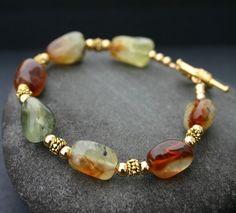 Green Prehnite Bracelet by InspiredTheory on Etsy, $18.00
