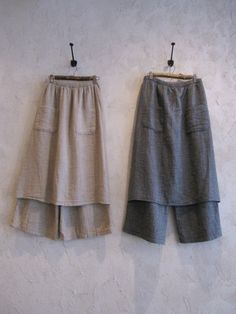 sewn-on apron-over-pant! pockets squared!