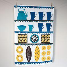 Vintage Scandi Tea Towel - Coffee & Cake » Pretty Dandy