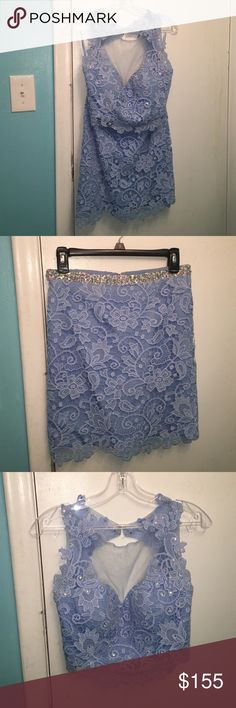 Selling this Homecoming/Prom periwinkle lace dress on Poshmark! My username is: sydney57_. #shopmycloset #poshmark #fashion #shopping #style #forsale #Dresses & Skirts