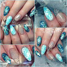 All things winter nail art #almondnails
