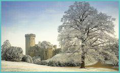 Castle in Winter - Warwick Castle, England Christmas Days Out, Christmas In England, White Christmas, Xmas, Warwick Castle, English Architecture, Castles In England, English Castles, Castle Ruins