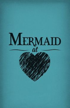 Mermaid at Heart Art Print by Emily Anne Design Types Of Mermaids, Unicorns And Mermaids, Real Mermaids, Mermaids And Mermen, Mermaid Fairy, Mermaid Tale, Art Vampire, Vampire Knight, Mythical Creatures