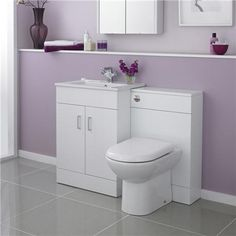 Modena High Gloss White Vanity Unit Bathroom Suite W1100 x D400/200mm