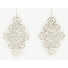 Ann Taylor Filigree Chandelier Earrings ($40) ❤ liked on Polyvore featuring jewelry, earrings, silver, ann taylor jewelry, ann taylor earrings, ann taylor, filigree earrings and chandelier jewelry