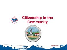 Citizenship in the Community Merit Badge Class Instructor Presentation