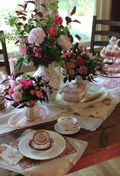 Tea and cookie tablescape by Julia M. Usher