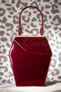Tatyana - 50s To Die For Handbag In Burgundy