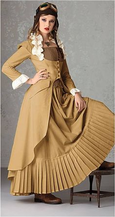 SteamPunk Victorian Jacket Dress Cosplay Wedding by TheGeekyBride, $150.00