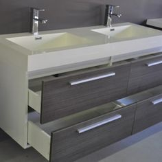 design for small bath with shower only and double vanity - Google Search