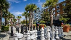 Life Size Chess Board at Market Common Myrtle Beach Attractions, Myrtle Beach Resorts, Myrtle Beach Vacation, North Myrtle Beach, Beach Trip, Beach Day, Great Places, Places To Go, Beautiful Places
