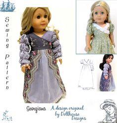 Georgiana Regency Sewing Pattern by Dollhouse by DollhouseDesigns
