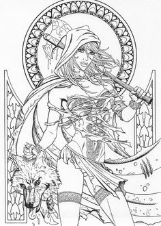 Grimm Fairy Tales coloring page
