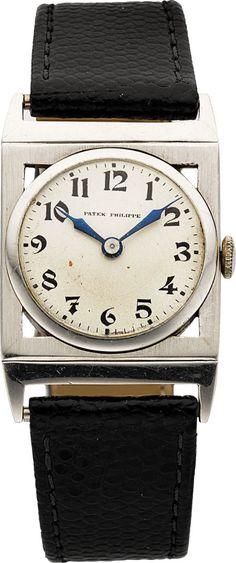 Patek Philippe Platinum Wristwatch, circa 1920's.