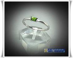 Goldringe - Trendiger Tsavorit Ring in 585/- (14K) Gold - ein Designerstück von…