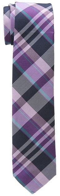 $55, Purple Plaid Tie: Original Penguin Tuttle Plaid Tie. Sold by Zappos. Click for more info: https://lookastic.com/men/shop_items/33184/redirect